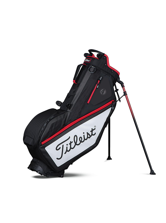 titleist players 4 stand bag schwarz wei rot golfpartner. Black Bedroom Furniture Sets. Home Design Ideas